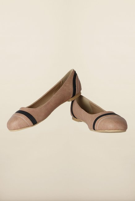 Allen Solly Beige & Black Ballerina Shoes