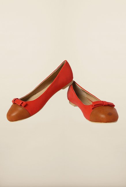 Allen Solly Red & Brown Ballerinas