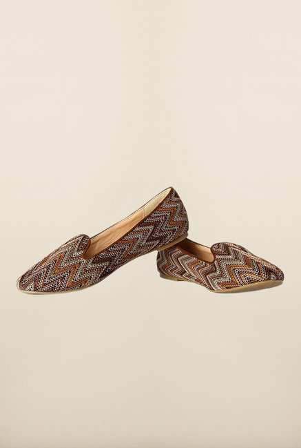 Van Heusen Brown Flat Ballerinas