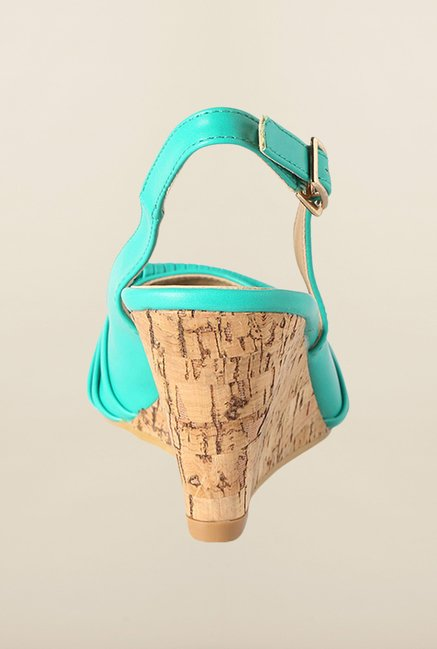 Allen Solly Turquoise Back Strap Wedges