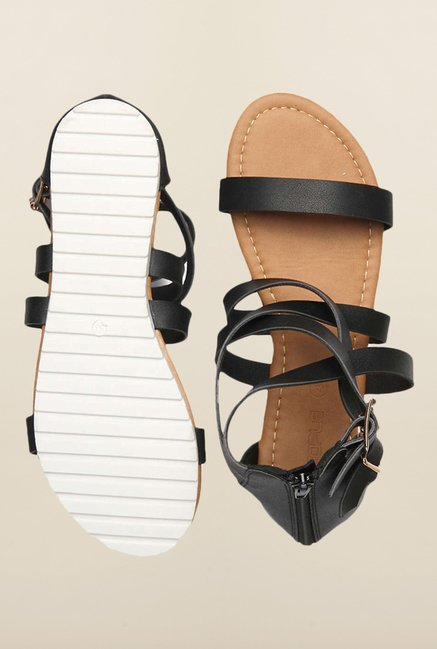 People Black Gladiator Sandals