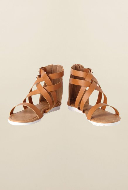 People Tan Gladiator Sandals