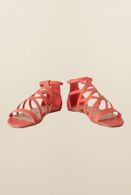 People Peach Huarache Sandals