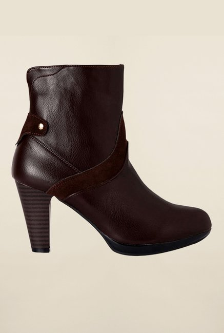 Allen Solly Brown Ankle High Booties