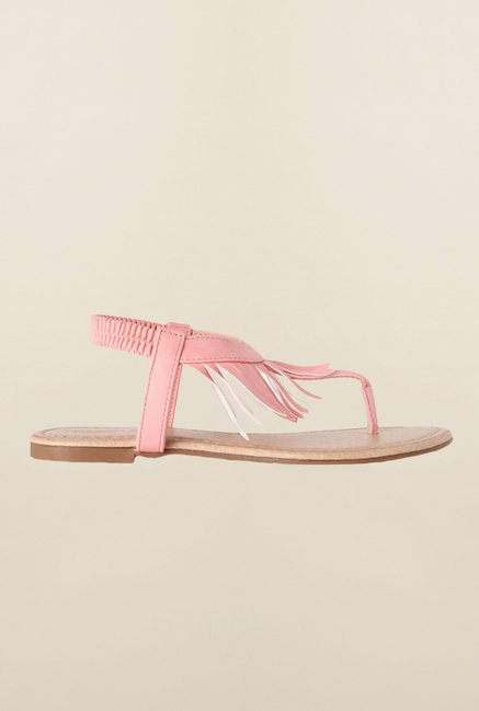 People Pink Back Strap Sandals