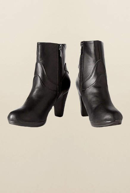 Allen Solly Black Ankle High Booties
