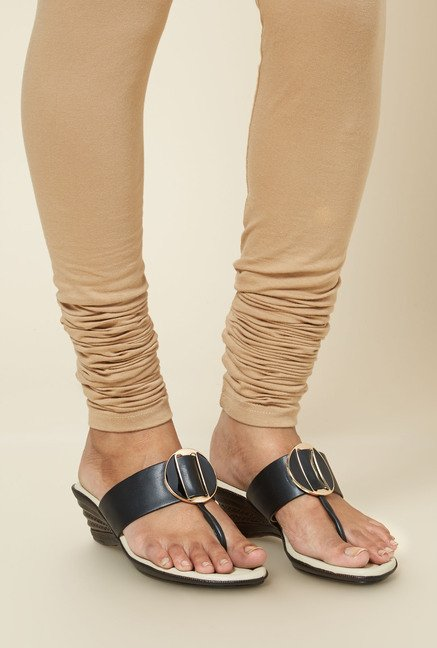Zudio Black Platform Heel Sandals