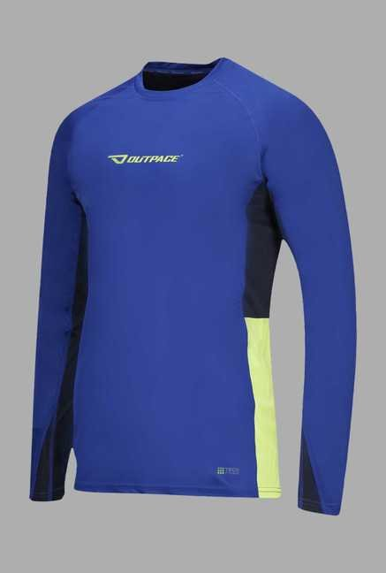 Outpace Blue Solid Running Sweatshirt