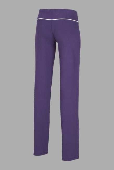 Doone Purple Regular Fit Training Track Pants