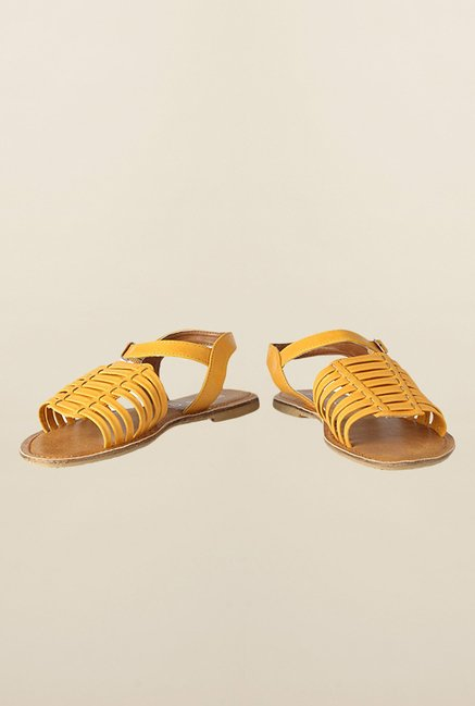 People Yellow Huarache Sandals