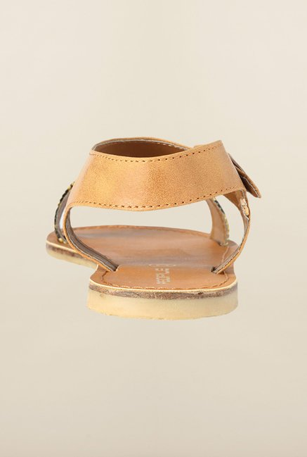 People Tan Ankle Strap Sandals