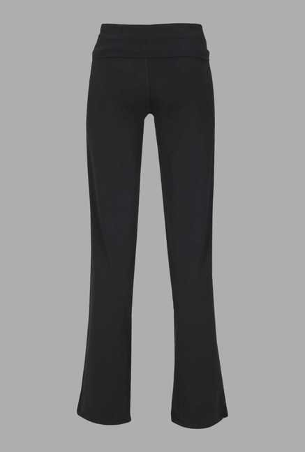 Doone Black Regular Fit Training Track Pants