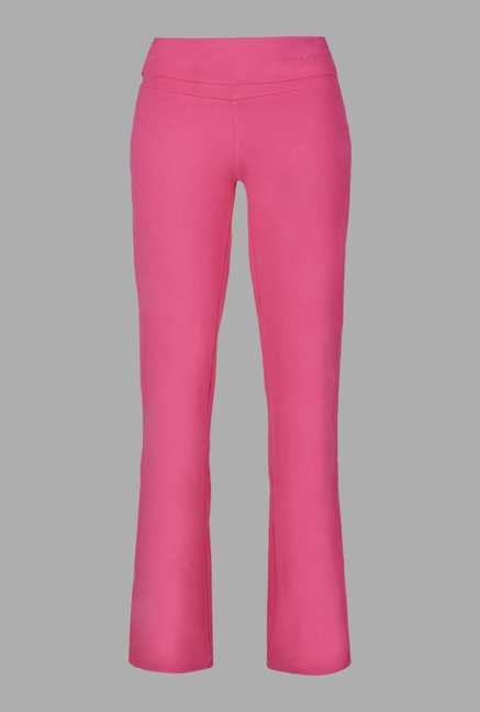 Doone Pink Regular Fit Training Track Pants