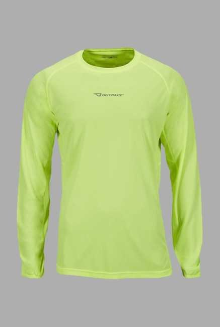 Outpace Lime Full Sleeves Sweatshirt