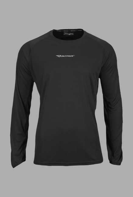 Outpace Black Full Sleeves Sweatshirt