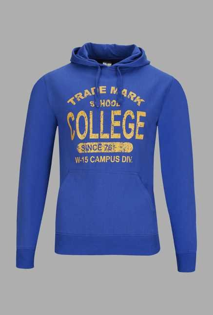 Doone Blue Graphic Printed Training Sweatshirt