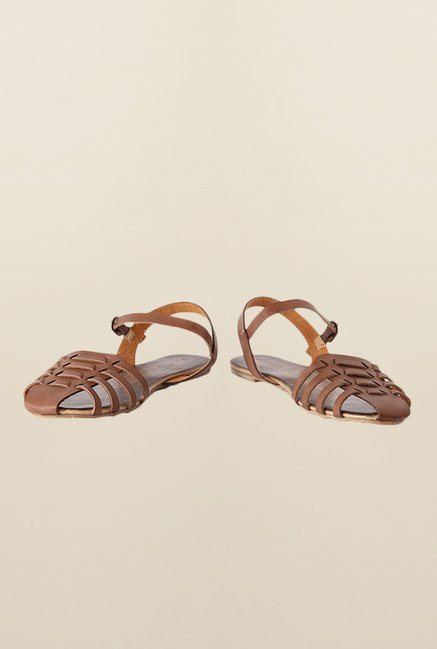 People Brown Huarache Sandals