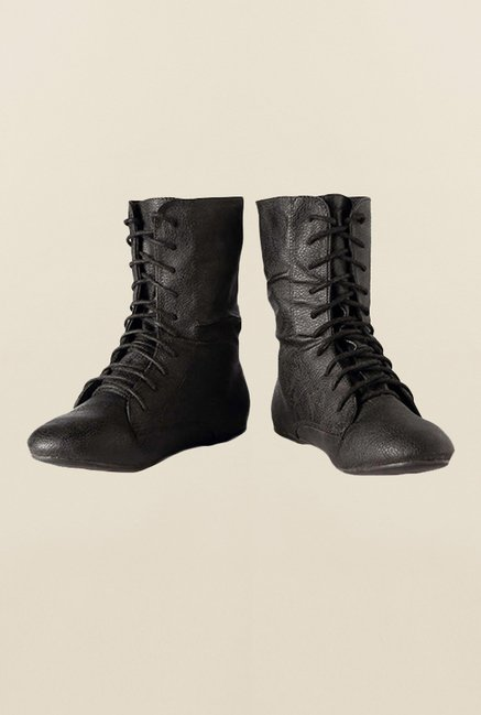 Allen Solly Black Flat Booties