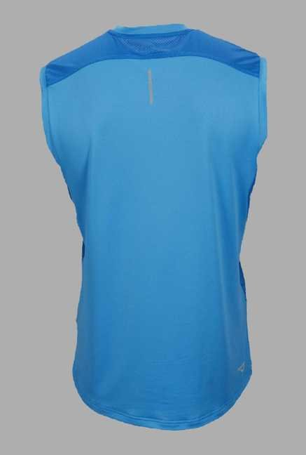Outpace Blue Solid Running Singlet