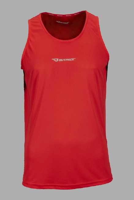 Outpace Red Running Singlet