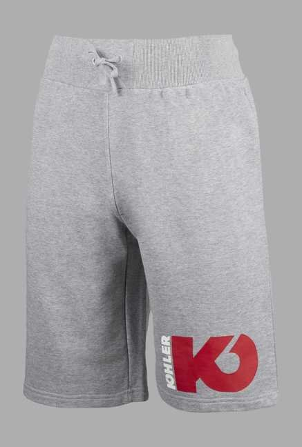 Kohler Grey Solid Combat Shorts