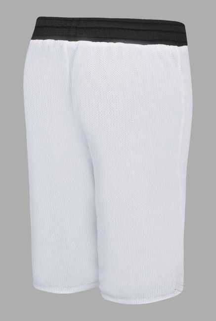 Team Quest White Solid Basketball Shorts