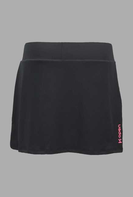 Kopen Black Solid Tennis Skirt