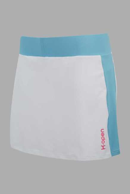 Kopen White Solid Tennis Skirt