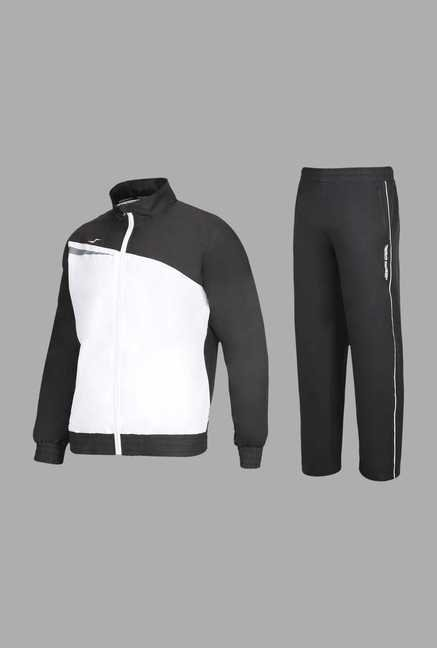 Team Quest Black Solid Football Track Suit Set