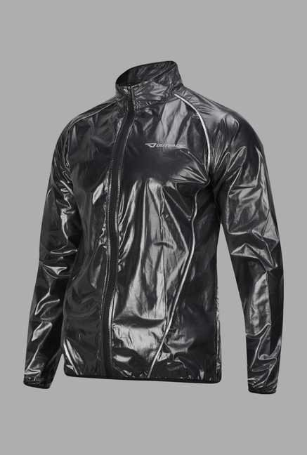 Outpace Black Solid Running Jacket