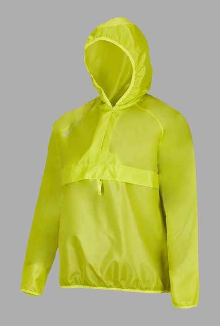 Outpace Lime Solid Running Windbreaker Jacket