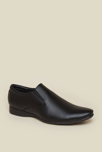 Zudio Black Slip-on Shoes