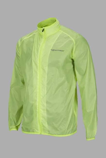 Outpace Lime Running Windbreaker Jacket
