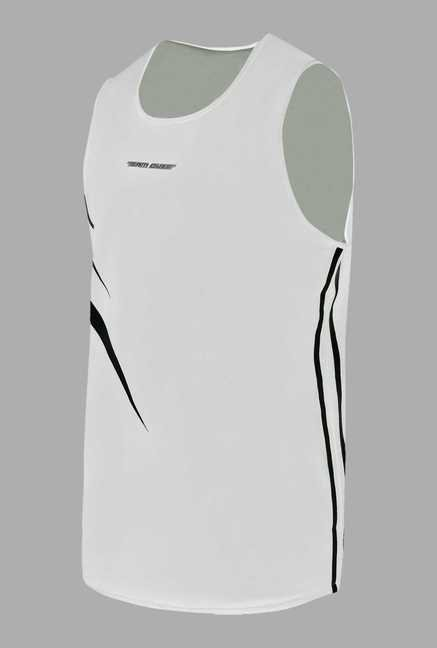 Team Quest White Basketball Singlet