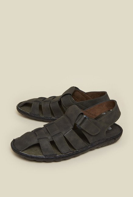 Zudio Dark Olive Leather Sandals