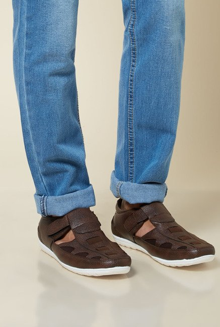 Zudio Brown Leather Sandals