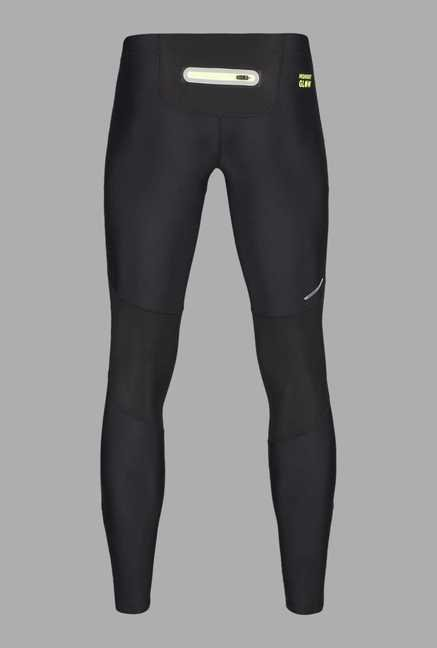 Outpace Black Slim Fit Running Track Pants