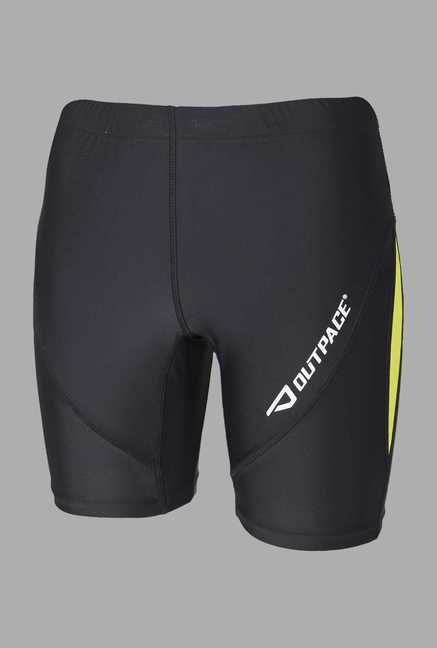 Outpace Lime Green & Black Running Shorts