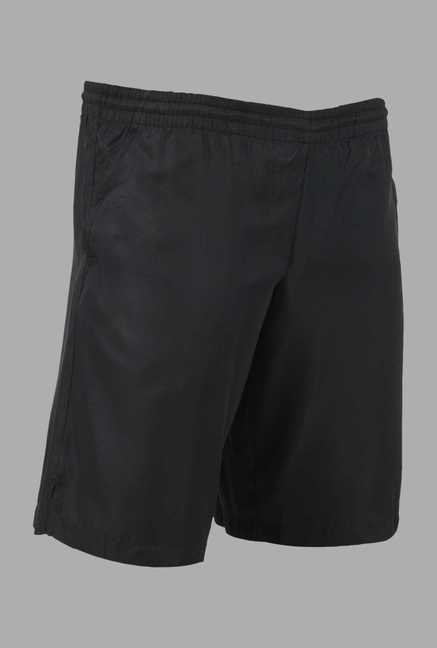 Kopen Black Solid Tennis Shorts