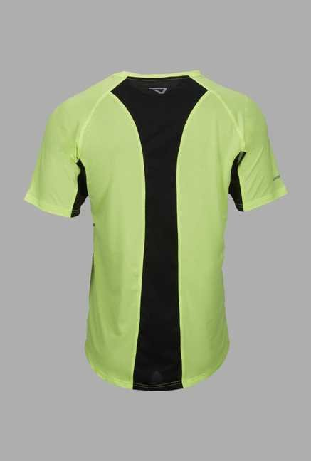 Outpace Lime Regular Fit Running T Shirt