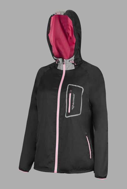 Outpace Black Running Jacket