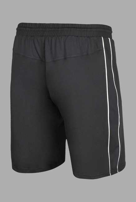 Team Quest Black Solid Football Shorts