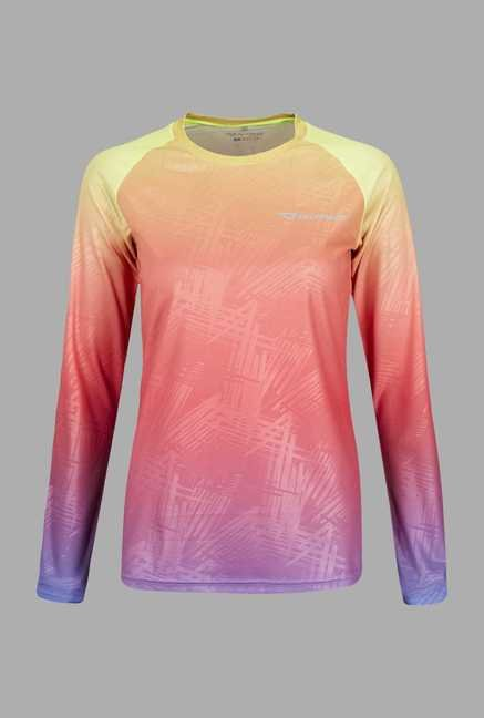 Outpace Pink Full Sleeves Running T Shirt