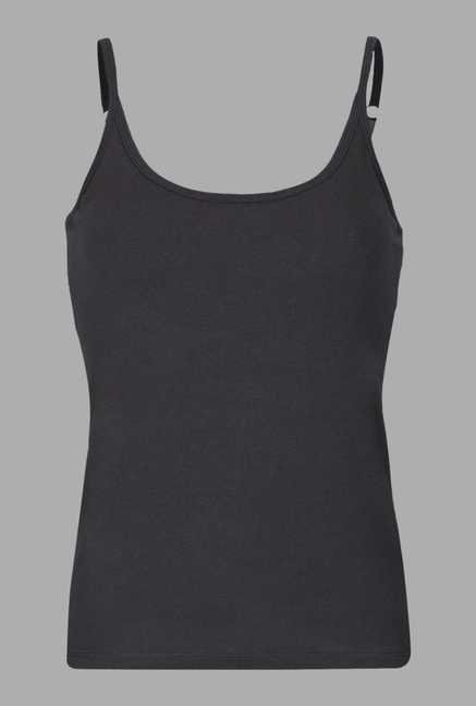 Doone Black Scoop Neck Training Tank Top