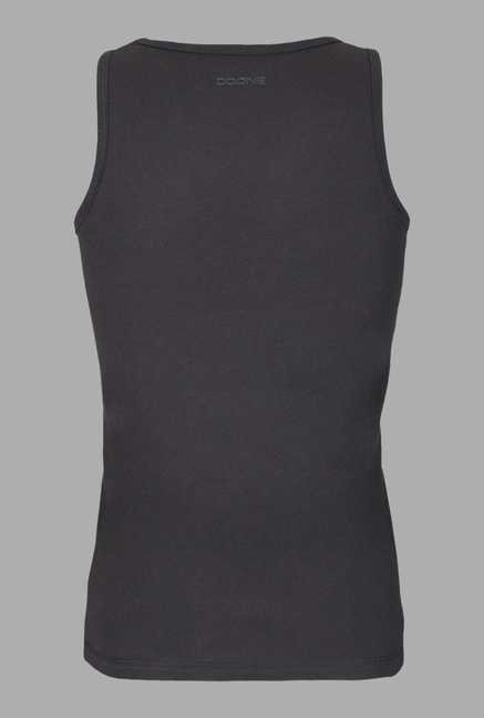 Doone Black Slim Fit Training Singlet