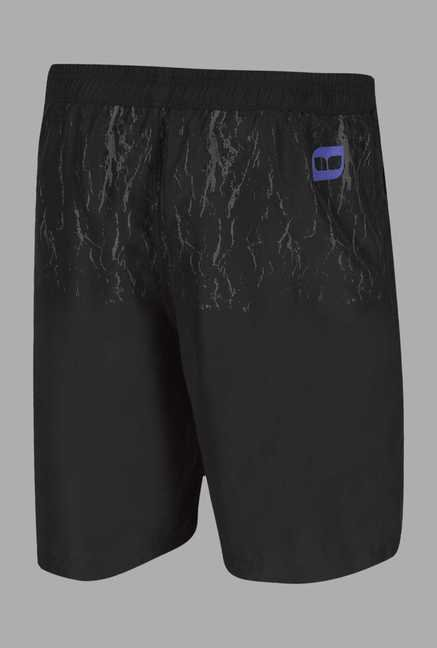 Doone Black Regular Fit Training Shorts