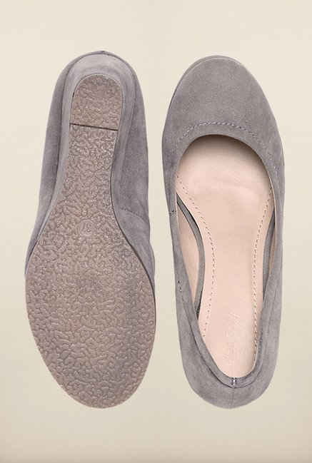 Allen Solly Grey Wedge Pumps
