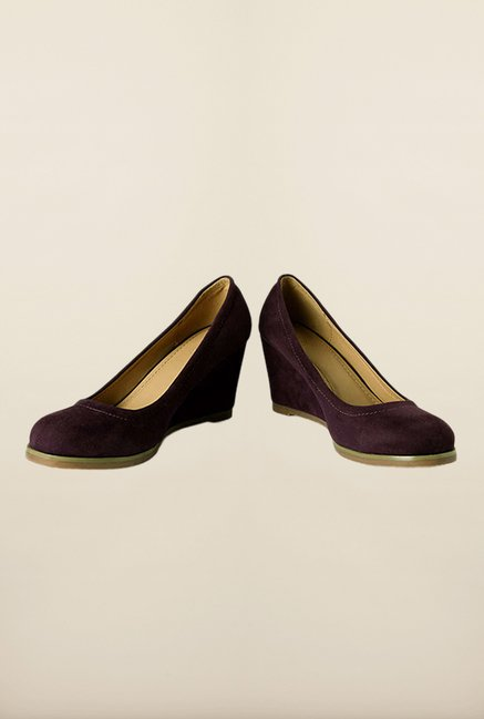 Allen Solly Purple Wedge Pumps