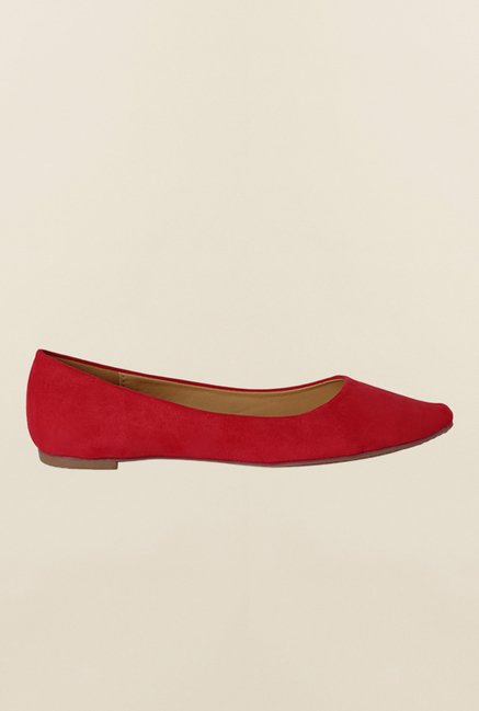 Allen Solly Red Flat Ballerina Shoes