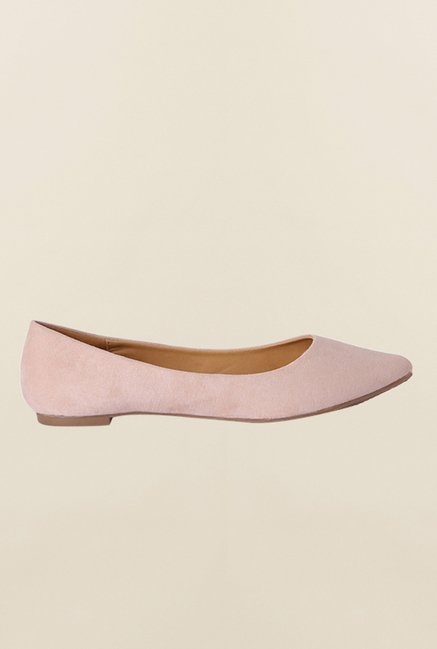 Allen Solly Beige Flat Ballerina Shoes